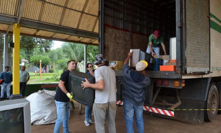 Campanha Coleta de Lixo Eletrônico recolheu  uma carreta com mais de 70 metros cúbicos
