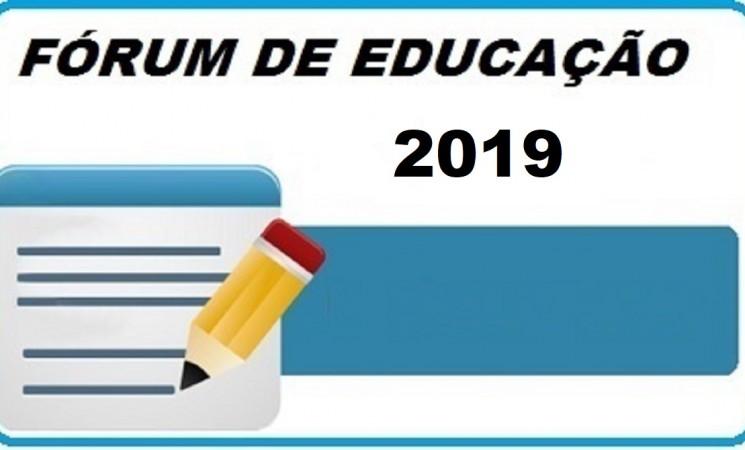 INSCRIÇÕES FÓRUM DE EDUCAÇÃO 2019