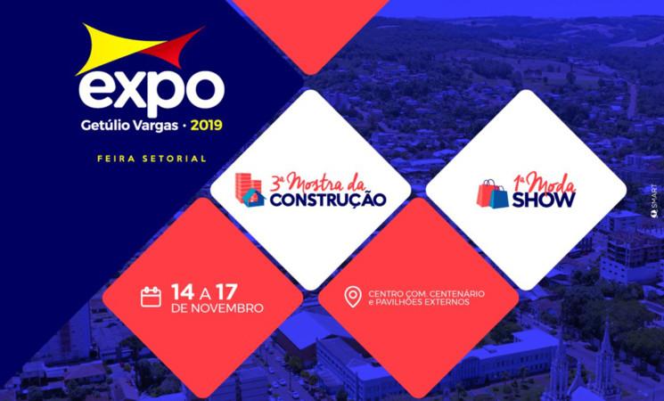 Vem aí a Expo Getúlio Vargas 2019 – Feira Setorial que vai abrigar a 3ª Mostra da Construção e a 1ª Moda Show