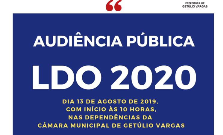 Governo Municipal convida para Audiência Pública para elaboração da LDO 2020