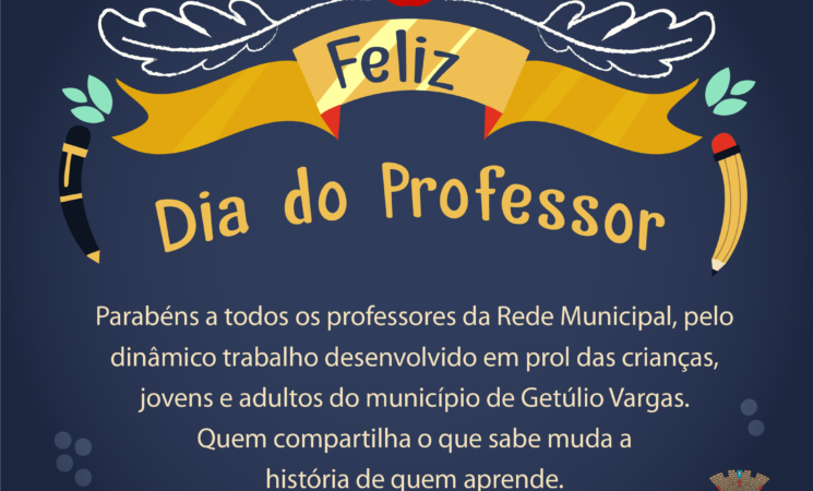15 de Outubro: Feliz Dia do Professor!