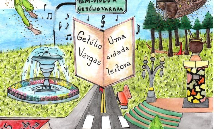 Conhecidos os vencedores I Concurso de desenhos, frases, poemas, crônicas e causos, relacionados à Feira do Livro de Getúlio Vargas 2019