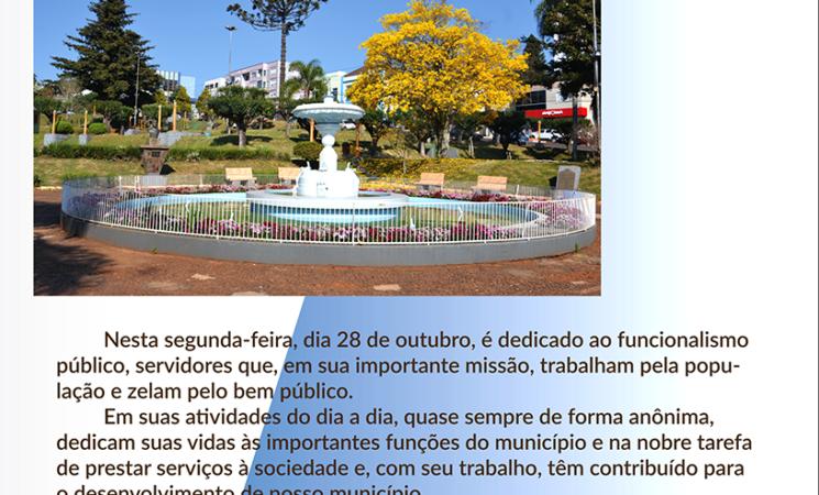 Servidores municipais terão feriado no Dia do Servidor Público