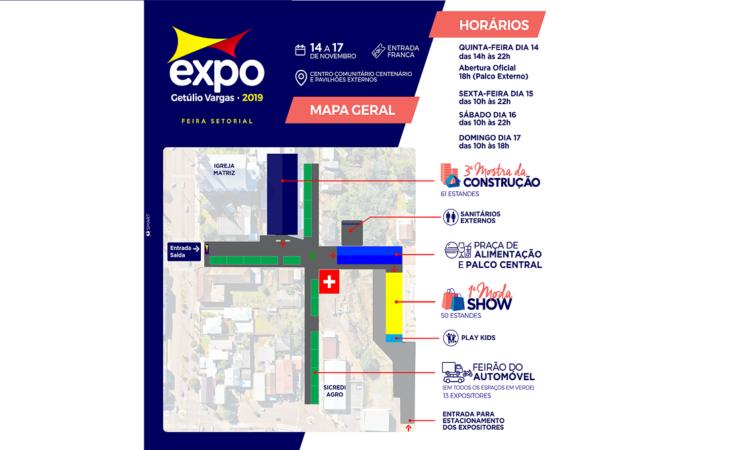 EXPO GETÚLIO VARGAS - MAPA GERAL