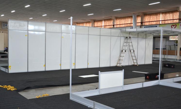 Iniciada a montagem dos estandes da Expo Getúlio Vargas 2019