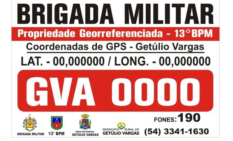 Prefeitura de Getúlio Vargas convoca agricultores a colocarem placas do georreferenciamento em suas propriedades