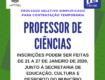 Prefeitura de Getúlio Vargas está com Processo Seletivo Simplificado para contratação temporária de Professor de Ciências