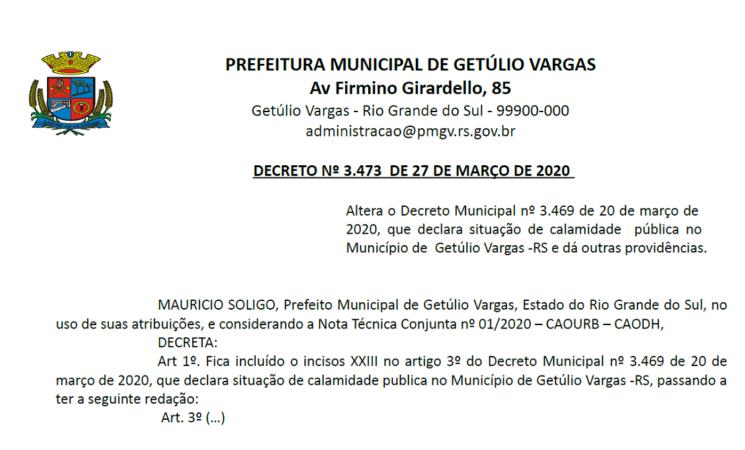 Decreto 3473 Altera Dec 3469 CORONAVIRUS - COVID 19 - Referente Construções