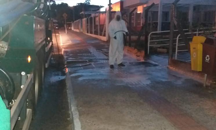 Getúlio Vargas faz desinfecção de espaços públicos para prevenir o coronavírus e outros microorganismos