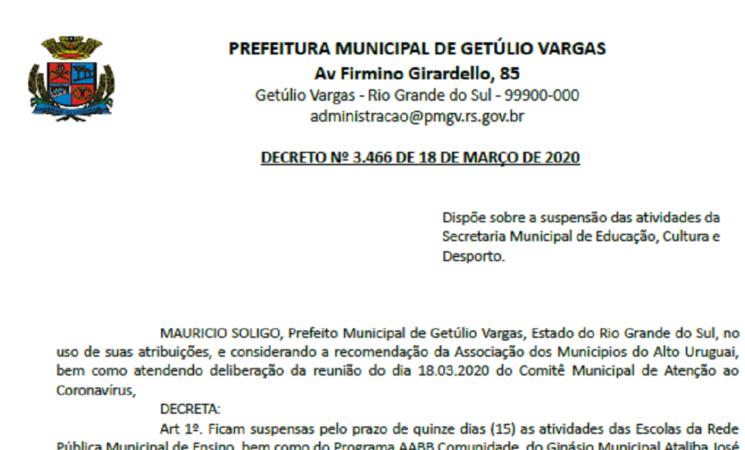 DECRETO COVID-19 EDUCAÇÃO