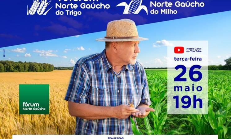VI Fórum Gaúcho do Trigo e VII Fórum Norte Gaúchodo Milho será realizado de forma online