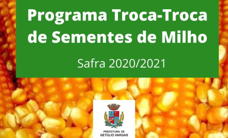 Prefeitura de Getúlio Vargas faz reserva de sementes de milho safra 2020/2021
