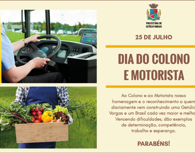 Dia do Colono e Motorista - 25 de julho
