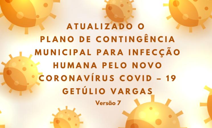 Atualizado o Plano de Contingência Covid-19 de Getúlio Vargas