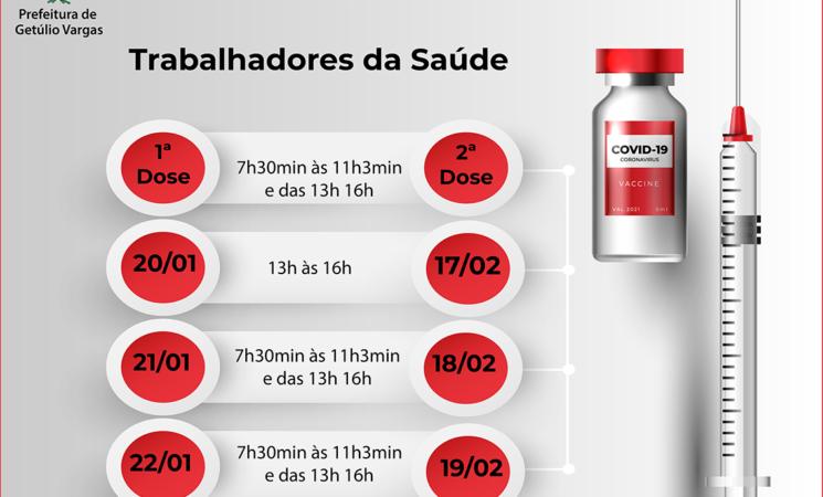 Profissionais de saúde: atenção para as datas da 2ª dose