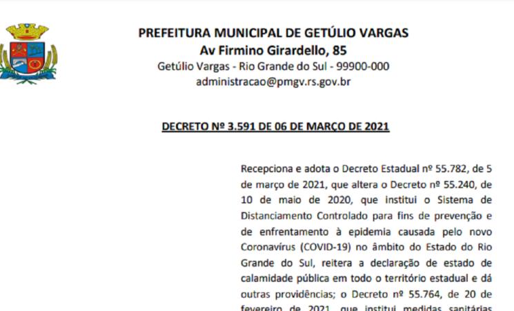 Decreto 3591 2021 Municipal Bandeira Preta