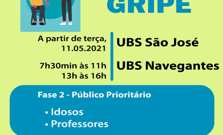Getúlio Vargas dá início à 2ª etapa da Campanha Nacional de Vacinação contra a H1N1 a partir de terça-feira, dia 11