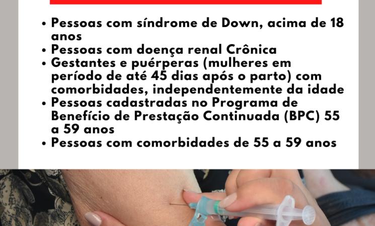 Getúlio Vargas inicia vacinação de pessoascom comorbidades na segunda-feira, dia 3