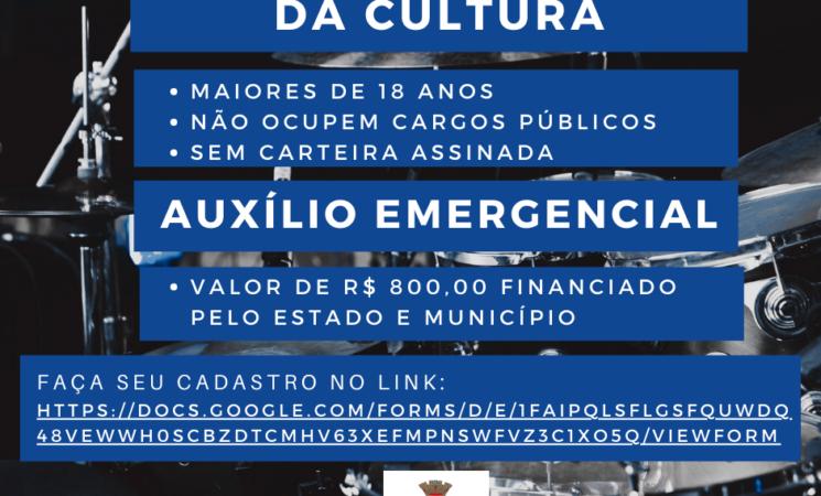 Prefeitura de Getúlio Vargas lança novo cadastramento para auxilio emergencial de trabalhadores na cultura