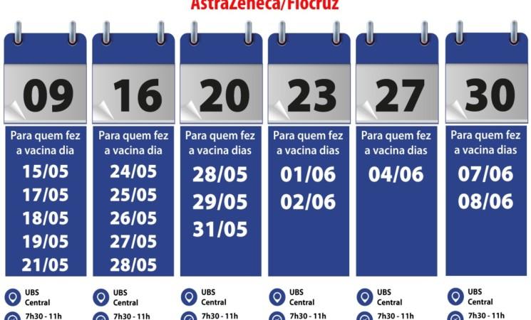Calendário de Agosto: Vacina da Pfizer e AstraZeneca