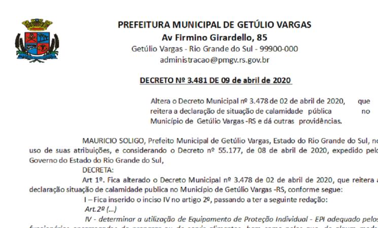 Decreto 3481 Alteração decreto 3478 Reiteração