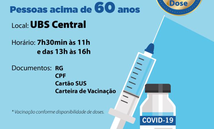 Getúlio Vargas segue vacinando a primeira dose para idosos com mais de 60 anos