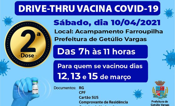 Segunda Dose da vacina contra Covid-19