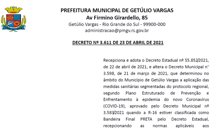 3611 Decreto COVID  de 23 de abril