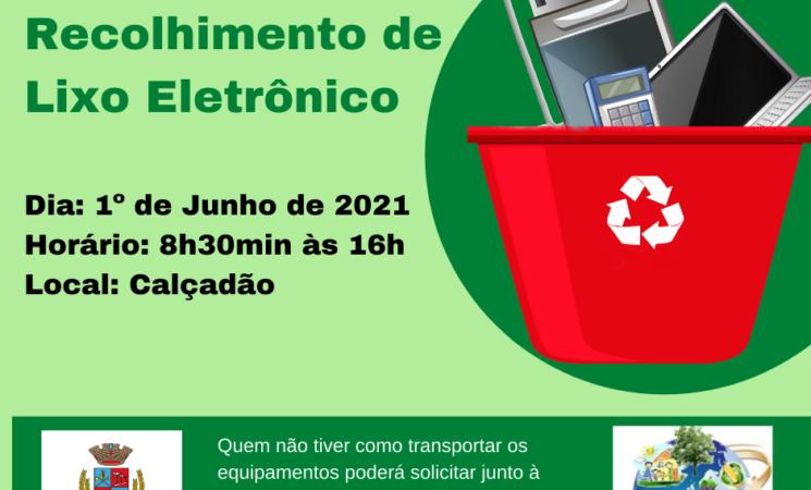 Campanha de Coleta de Lixo Eletrônico deGetúlio Vargas acontece no dia 1º de junho