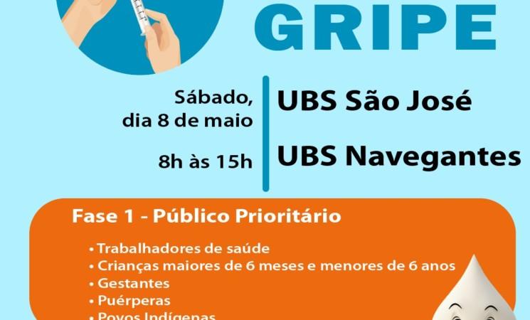 Dia D de Vacinação contra a Gripe será neste sábado, dia 8 de maio