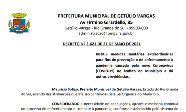 Decreto 3.621 Protocolos Variáveis - sistema de alerta regional 22-05 a 04-06