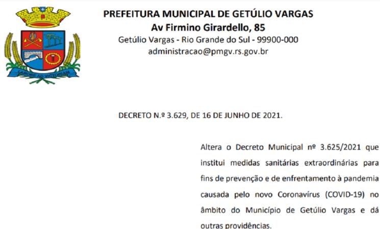 Decreto 3.629  COVID-19