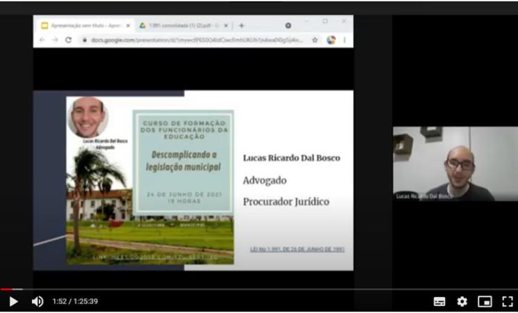 SMECD de Getúlio Vargas conclui Curso de Formação para os funcionários da Educação
